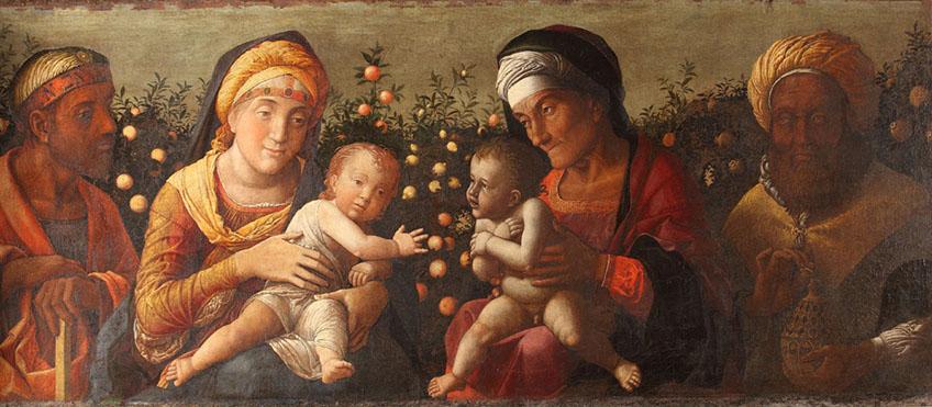 Sacra famiglia e famiglia del Battista di Andrea Mantegna