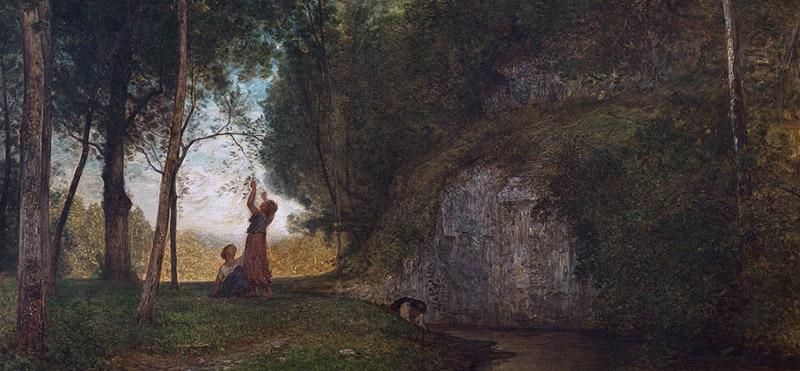 A. Fontanesi - La quiete - 1860 - Torino, GAM