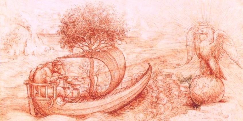 Leonardo da Vinci, particolare di