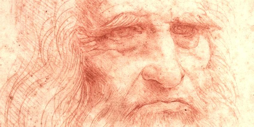 Leonardo da Vinci, particolare di un autoritratto (Biblioteca Reale, Torino)