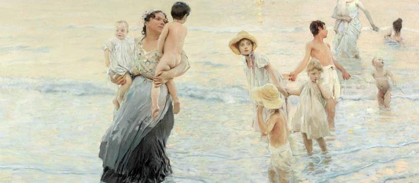 Ettore Tito - Luglio sulla spiaggia