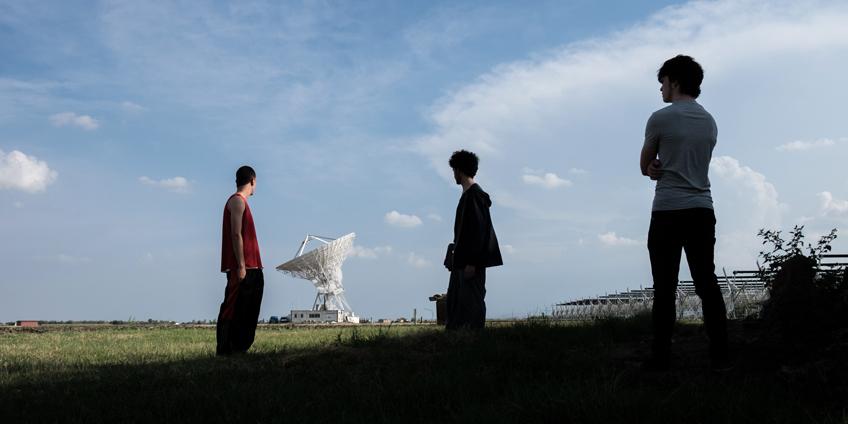 Ivan, Cosmic e Pietro (da sin. Nicolas Balotti, Alessandro Tarabelloni, Riccardo Frascari) - Foto Rosalba Sacco