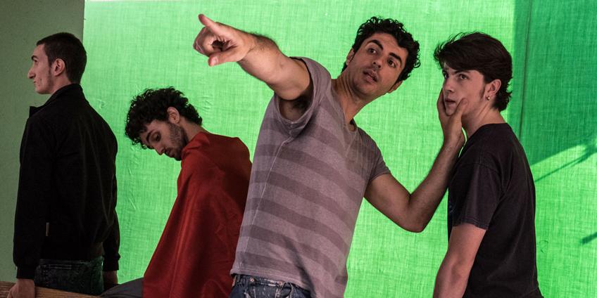 da sin. Nicolas Balotti, Alessandro Tarabelloni, il regista Germano Maccioni, Riccardo Frascari) Foto di Rosalba Sacco