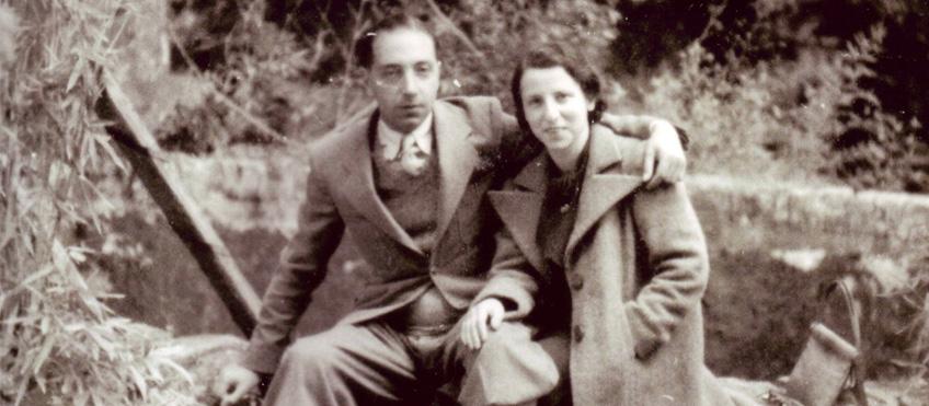 Renzo Bonfiglioli e la moglie Ida Ascoli Magrini