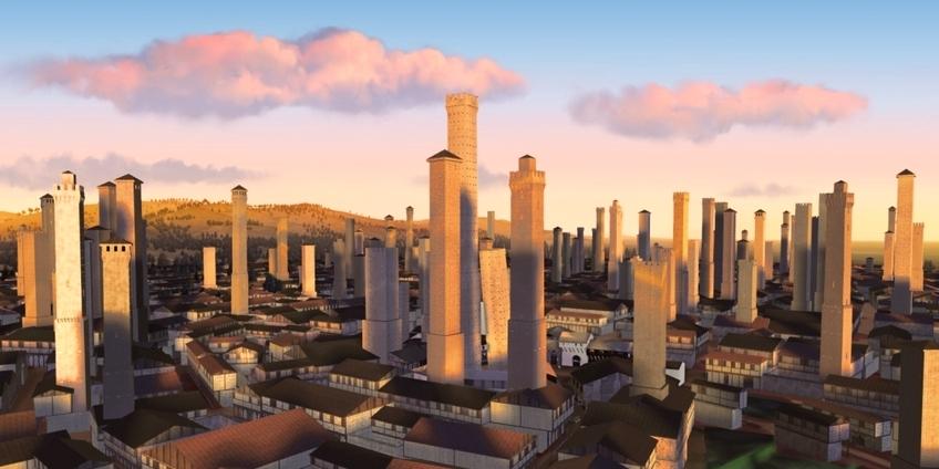 Bologna medievale (ricostruzione virtuale a cura di