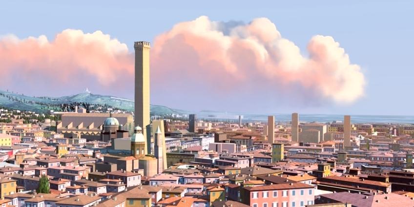 Bologna attuale (ricostruzione virtuale a cura di