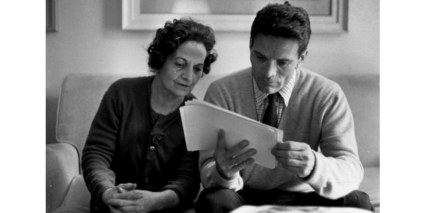 Pier Paolo Pasolini con sua madre, Susanna Colussi