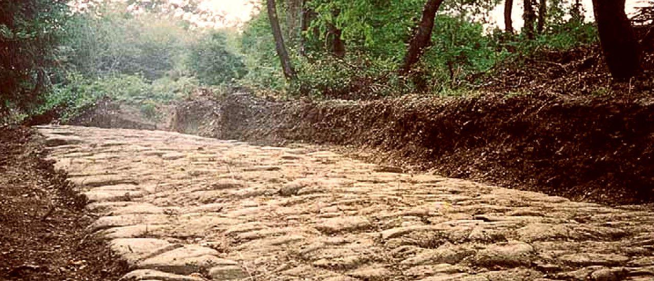 Una parte del tracciato della Via Flaminia militare individuato da Cesare Agostini e Franco Santi