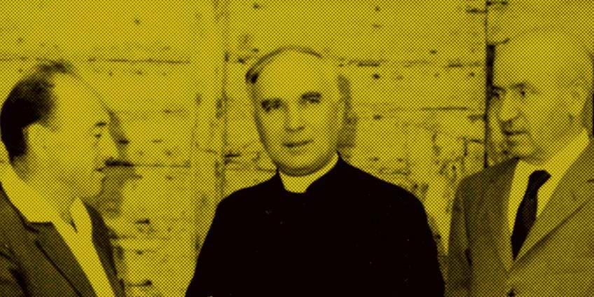Josef Indig, don Arrigo Beccari e Giuseppe Moreali