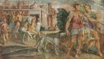 Dettaglio dell'affresco dal secondo libro dell'Eneide
