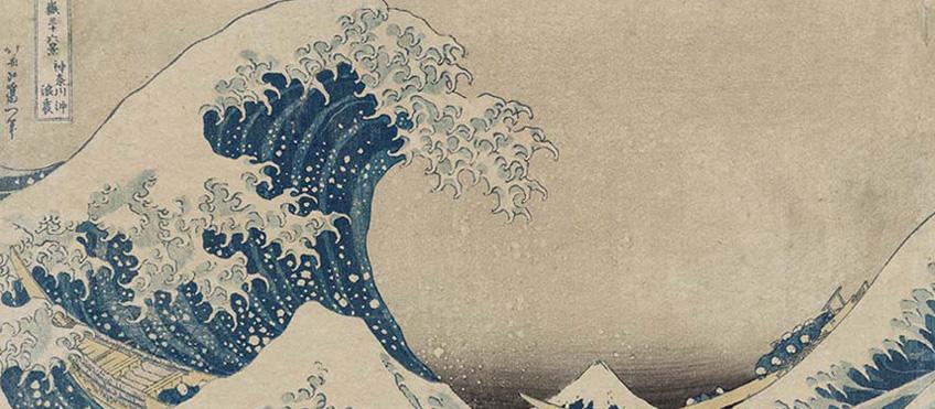 Katsushika Hokusai La [grande] onda presso la costa di Kanagawa, dalla serie Trentasei vedute del monte Fuji 1830-1831 circa
