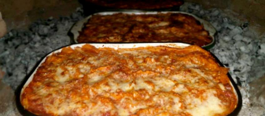 Le lasagne realizzate da Marco Foschi su ricetta della nonna Vera Frani