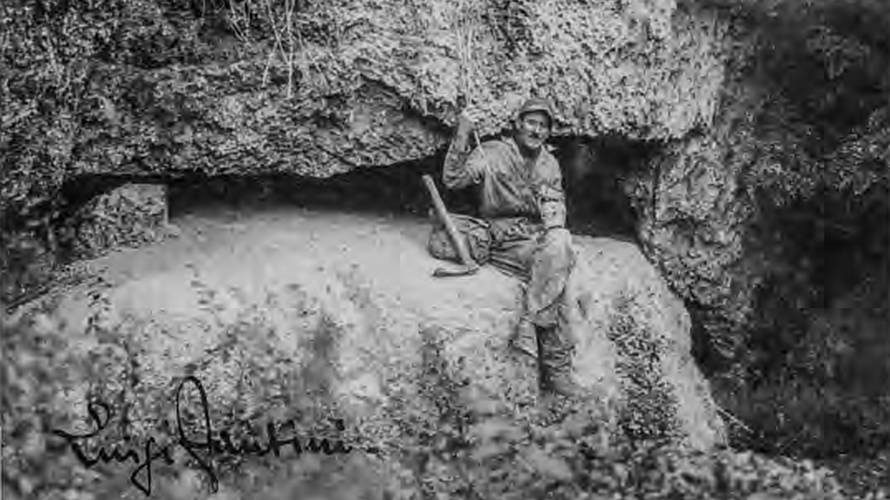 Luigi Fantini, ingresso grotta della Spipola