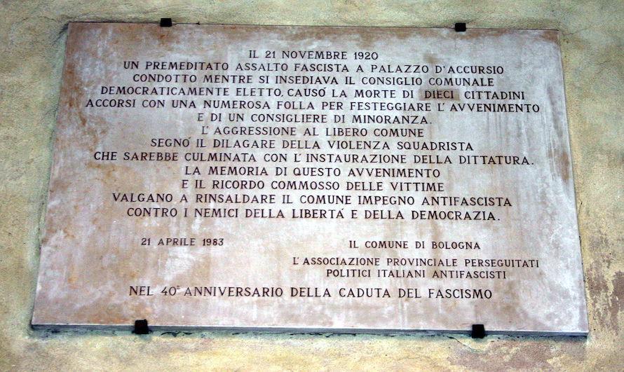 Bologna Lapide 1983 Cortile Di Palazzo D'Accursio Foto Giovanni Dall'Orto, 9 Feb 2008