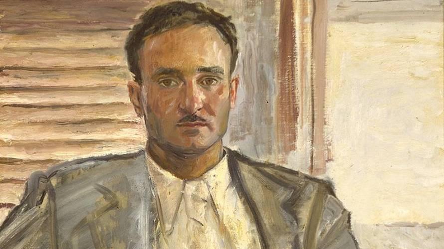 Laszlo Vinkler, Ritratto Di Luigi Magnani, 1936, Olio Su Tela Dettaglio
